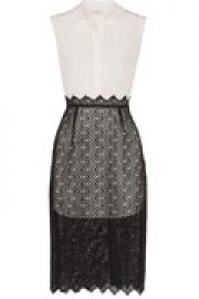 Ryo layered embroidered washed-silk dress at The Outnet