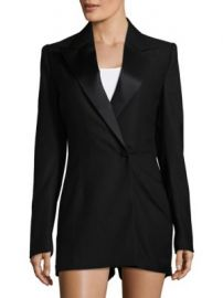SAINT LAURENT - Peak Lapel Romper at Saks Off 5th