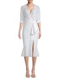SALONI - Olivia Cotton Eyelet Midi Dress at Saks Fifth Avenue