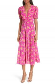 SALONI Lea Silk Midi Dress at Nordstrom