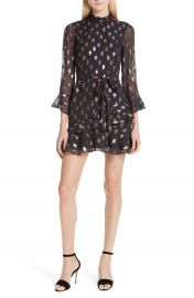 SALONI Marissa Metallic Fil Coup   Silk Blend Minidress at Nordstrom
