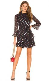 SALONI Marissa Mini Dress in Black Rainbow from Revolve com at Revolve