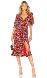 SALONI Olivia Dress in Flame Azalea from Revolve com at Revolve