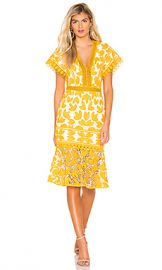 SAYLOR Kaiya Dress in Mustard  amp  White from Revolve com at Revolve