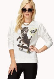 SK8 Cat Pullover at Forever 21