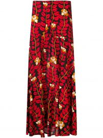 SONIA RYKIEL Lonf printed skirt at Farfetch