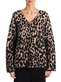 STELLA MCCARTNEY - LEOPARD-PRINT MOHAIR SWEATER at Saks Fifth Avenue