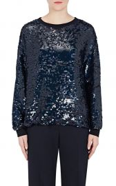 STELLA MCCARTNEY Sequin-Embellished Silk Sweatshirt at Barneys Warehouse