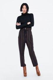 STRIPED PRINT PANTS at Zara