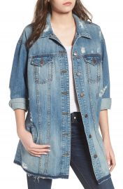 STS Blue Long Denim Boyfriend Jacket  Sand Canyon at Nordstrom