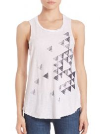 SUNDRY - Triangles Sleeveless Tank Top at Saks Fifth Avenue