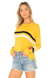 SUNDRY Stripes   Heart Cashmere Blend Crew Neck in Mustard from Revolve com at Revolve