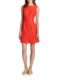 SUNO - Coated Pleated-Hem Dress at Saks Fifth Avenue