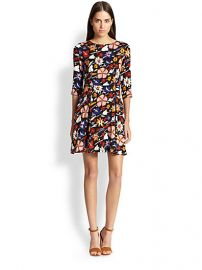 SUNO - Floral Fit and Flare Dress at Saks Fifth Avenue