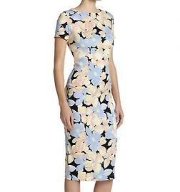 SUNO Silk Floral Sheath Dress at Saks Fifth Avenue