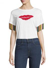Sachin  amp  Babi Tassel-Sleeve Lips Tee   Neiman Marcus at Neiman Marcus