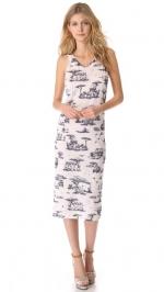 Safari printed jersey dress by Carven at Shopbop
