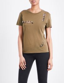Safety pin tee by The Kooples at Selfridges