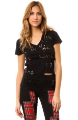 Safety pin tee by Tripp nyc at Amazon