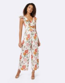 Sage Belted Linen Culotte Jumpsuit at The Iconic