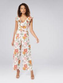 Sage Petite Belted Linen Culotte Jumpsuit at Forever New