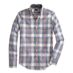 Sail Blue Plaid Shirt at J. Crew