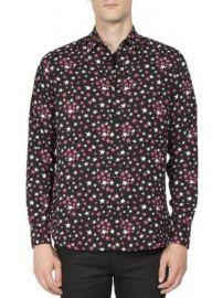 Saint Laurent - Multi-Color Star Printed Shirt at Saks Fifth Avenue