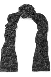 Saint Laurent   Printed wool scarf at Net A Porter