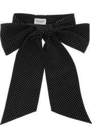 Saint Laurent  Polka-dot silk bow tie at Net A Porter