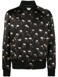 Saint Laurent Flamingo Print Bomber Jacket  2 690 - Shop AW17 Online - Fast Delivery  Price at Farfetch