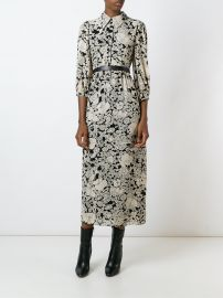 Saint Laurent Floral Print Shirt Dress at Farfetch