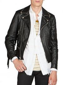 Saint Laurent Fringe Leather Moto Jacket at Saks Off 5th