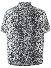 Saint Laurent Leopard Print Shirt at Farfetch