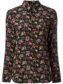 Saint Laurent Paris Collar Floral Print Shirt at Farfetch