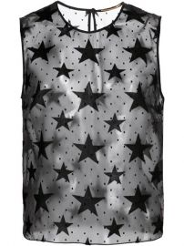 Saint Laurent Velvet Star Tank Top  - Kirna Zaband234te at Farfetch
