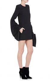 Saint Laurent Women\'s Wool Oversized-Sleeve Minidress at Barneys