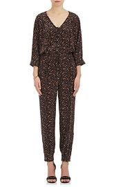 Saint Phalle Leopard-Print Silk Jumpsuit  at Barneys