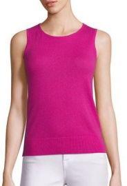 Saks Fifth Avenue - Sleeveless Cashmere Shell pink at Saks Fifth Avenue