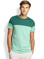 Saks Fifth Avenue Collection - Modern-Fit Colorblocked Crewneck Tee at Saks Fifth Avenue