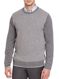 Saks Fifth Avenue Collection Triangle Cashmere Sweater at Saks Fifth Avenue
