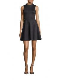 Saks Fifth Avenue RED - Checked Fit   Flare Dress at Saks Off 5th