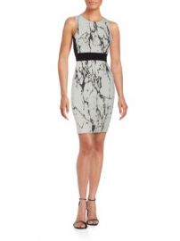 Saks Fifth Avenue RED - Printed Sleeveless Sheath Dress at Saks Off 5th