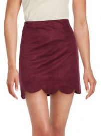 Saks Fifth Avenue RED - Scalloped Hem A-Line Skirt at Saks Off 5th