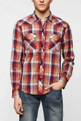 Salle Plaid Western Shirt at Urban Outfitters