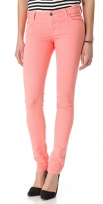Salmon jeans by Alice and Olivia at Shopbop