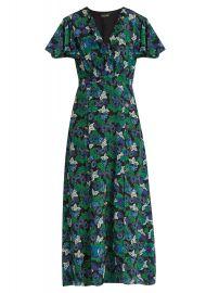 Saloni Josee floral-print silk midi dress at Matches