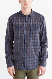 Salt Valley Acid Washed Plaid Button-Down Workshirt at Urban Outfitters