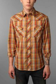 Salt Valley Chuckles Plaid Western Shirt at Urban Outfitters