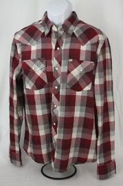Salt Valley New Texas Plaid Western in Red at Urban Outfitters