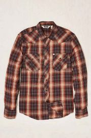 Salt Valley Shadow Plaid Western Button-Down Shirt at Urban Outfitters